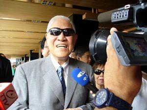 5回目の訪日第一声を語る李元総統