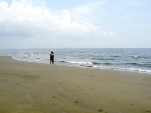 人の少ない稲毛海岸
