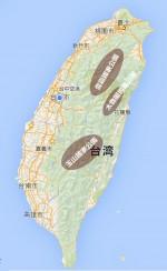 (写真2)台風の進路を変えた山脈