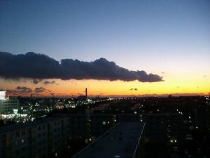 12月18日 17:00 稲毛海岸方面を望む